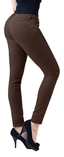 HyBrid & Company Women's Butt Lift Stretch Denim - Brown Stretch Jeans
