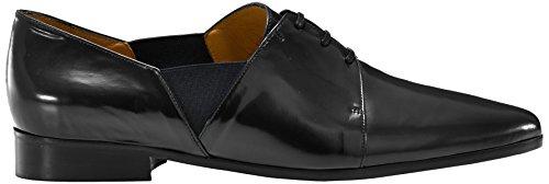 Castañer Malmo/Box Leather, Scarpa Stringata da Donna Nero(black)
