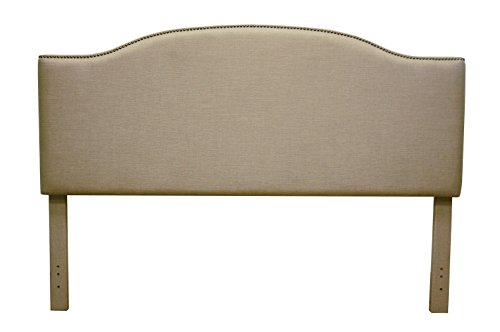 FirsTime & Co. Fairfax Beige Linen Headboard King, American Crafted, Beige, 81 x 4 x 56,