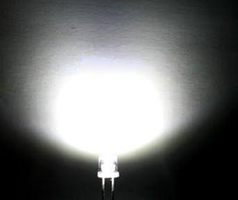 5x 5mm LED Flachkopf verkabelt 15cm LEDs Widerstände 5mm Flattop