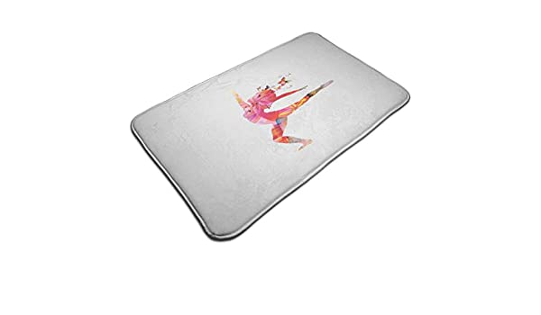 WANGKG Bath Mat,Woman Silhouette Dancing Butterflies Inspiration ...