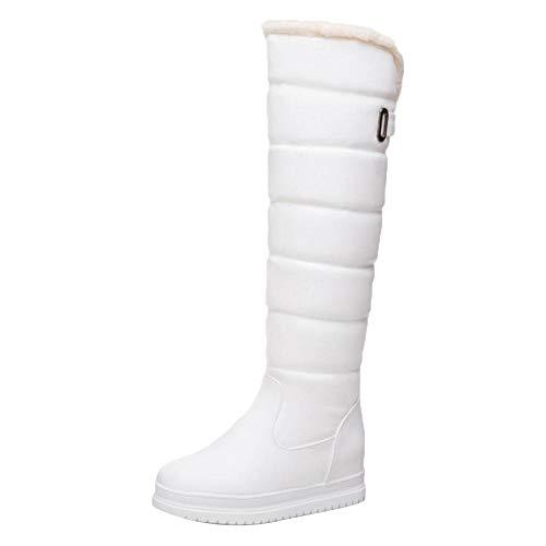 Blanc Femmes Bottes Taoffen Fourrure Chaudes Chaleureux Pluie Neige Chaussures 8FFvZdx