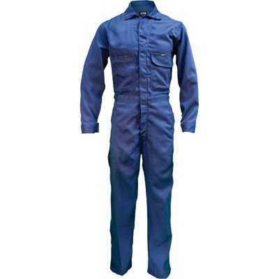 - Key Flame-Resistant Contractor Coverall - Navy, 40 Short, Model# 984.41