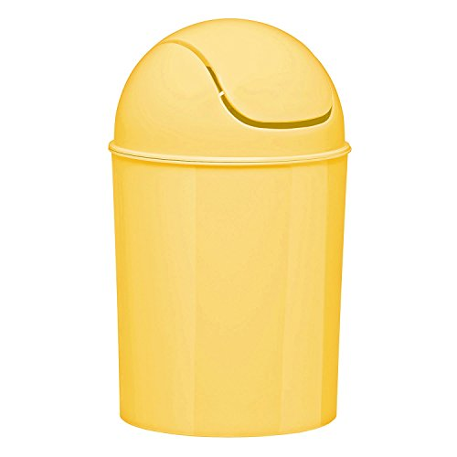 Umbra Mini Waste Can, 1-1/2 Gallon with Swing Lid (Yellow) (Yellow Trash Can For Bedroom)