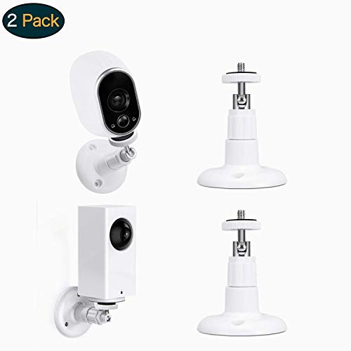 Swee Lightweight Wall Mount,Adjust to Any Angle in/Outdoor Mount Compatible with CCTV,Arlo Cameras,Arlo Pro,Motorola Baby,Baby Monitor,Oculus Rift Sensors,Secure Vtech Safe(2 Pack) ()