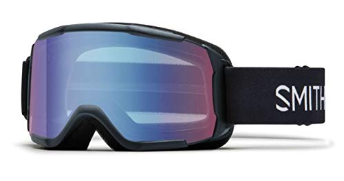 Smith Optics Youth Daredevil Snow Goggles Black Frame/Blue Sensor Mirror