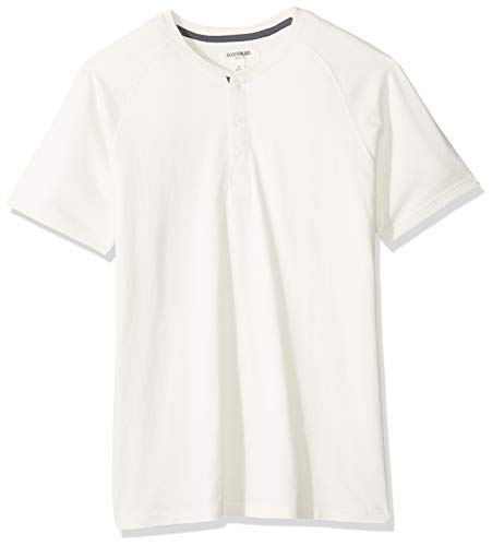 - Goodthreads Men's Short-Sleeve Sueded Jersey Henley, White, Large