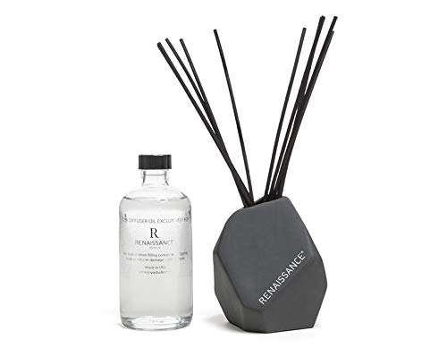Renaissance Hotels Shiso Tea Reed Diffuser - Aromatherapy Diffuser Crafted by Joya Exclusively Signature Shiso Tea Scent - Black Reeds in Ceramic Vessel - 8 oz. by Renaissance Hotels (Image #1)