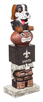 (Officially Licensed New Orleans Saints Tiki Totem Lawn Garden Statue)