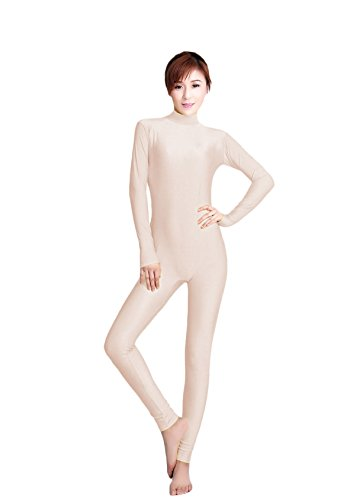 WOLF-UNITARD-Womens-Unitard-Lycra-Bodysuit-Dance-Wear-Small-Flesh