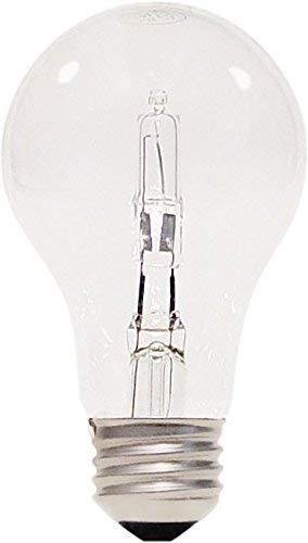 Satco 53A19/HAL/ES/CL/120V 2PK Halogen Type A, 53W E26 A19, 24 Clear Bulbs