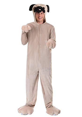 Adult Pug Costume Medium Brown]()