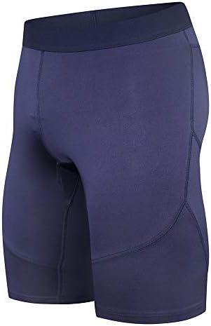 短いフィットネス スポーツパンツメンズ速乾性のタイツコンプレッショントレーニングがホーム用ショーツレギンスを実行します スポーツショーツ (色 : Purple, Size : XL)