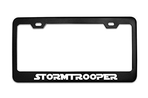 DestinyS STORMTROOPER Star Wars Black Metal Steel License Plate Frame Tag