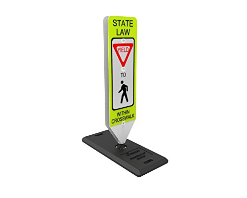- Impact Traffic - in-Street Pedestrian Crosswalk Sign, Yield, with Portable Base - Industry Best Performer