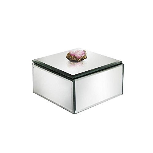 American Atelier 1280260 Agate Clear Stone Mirror Jewelry Box