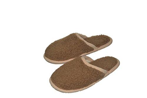 wollwarm - Zapatillas de estar por casa para hombre marrón