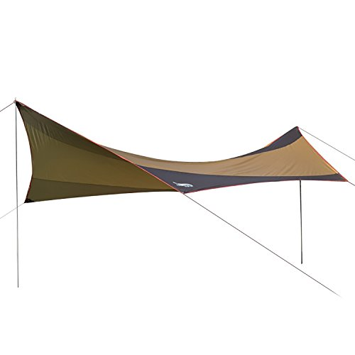 DESERT & FOX Camping Sun Shelter 18.0×18.4ft 5-8 People Sun Shade