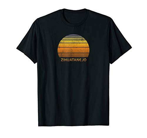 Retro Zihuatanejo Mexico T-Shirt (Best Beaches In Zihuatanejo)