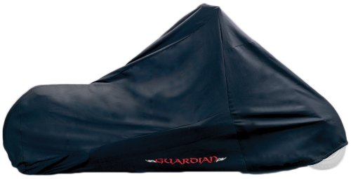 Dowco Guardian 51235-00 Indoor/Garage Breathable Motorcycle Dust Cover: Black, Custom Up To 124