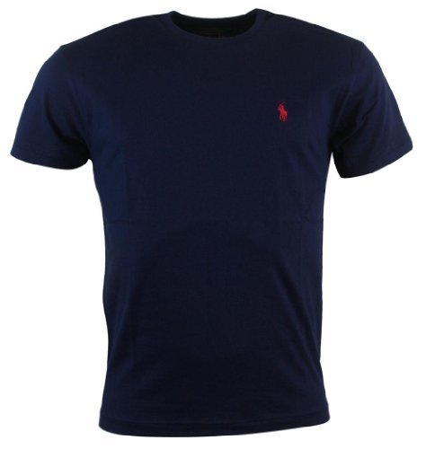 Polo Ralph Lauren Men's Classic Fit Solid Crewneck T-Shirt (Large, Navy)