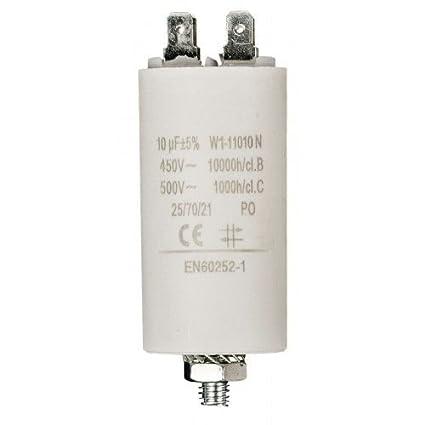Condensador de arranque para motor electrico 450 VAC (10 uF)