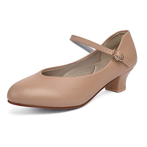 STELLE 1.5'' Character Dance Shoes for Women (Tan, 4M)