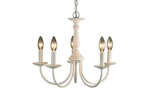 Volume Lighting V4515-6 5-Light White Chandelier, 18