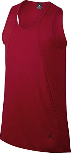 Jordan Men's Nike 23 LUX Extended Tank Top-Brick Red-Large by NIKE