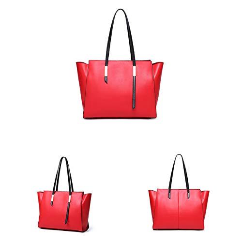 Pelle Da Grande Classico Elegante Bags Lavoro Business Borsa A Borse Capacità Totes Donna Rosso Shopping Tracolla In Casual blu FtdRzxd
