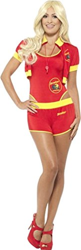 Deluxe Baywatch Lifeguard Costume Red/yellow X-small (uk Dress 4-6) -