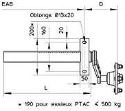 MAXTER 2 Demi essieux Remorque /à Souder 500KG 4TR 115
