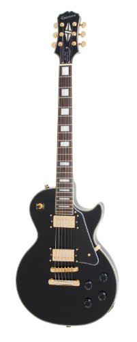 Les Custom Paul Gibson Guitar (Epiphone Les Paul CUSTOM PRO Electric Guitar with Coil Tapping, Ebony)
