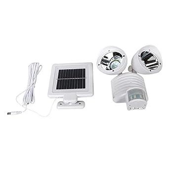 Detector PIR de doble cabeza Lámpara de seguridad solar Punto ...