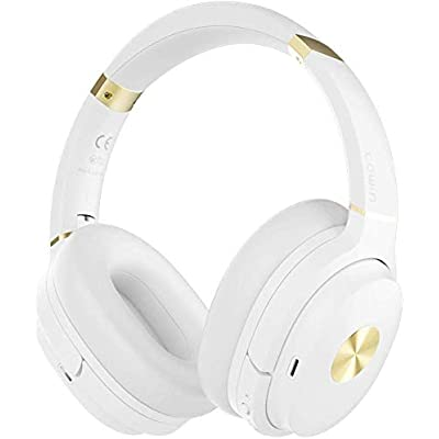 cowin SE7 Active Noise Cancelling Headphones Bluetooth Headphones Wireless Headphones Over Ear with Mic Aptx  Comfortable Protein Earpads 50H Playtime  Foldable Headphones for Travel Work  White