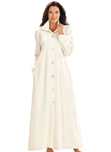 AmeriMark Chenille Long Robe Ivory