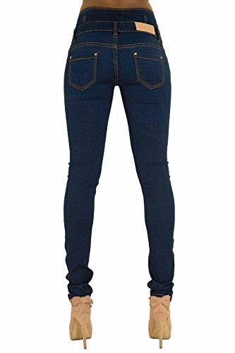 6 3 Pantaloni Fit Da Chic Lusty High Lustychic Blu Slim Elasticizzato Button Vita Nero Donne Alta A Bianco Jeans nbsp;– Taglia Black Waist Comodi Skinny Donna nbsp;14 pBxHxqwf