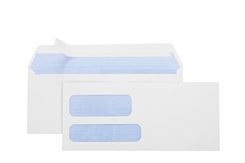Office Deed 500#10 SELF SEAL Double Window Security Envelopes-Designed for Business Statements, QuickBooks - 4 1/8 X 9 ½