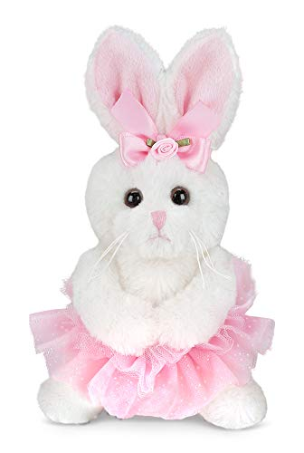 Bearington Lil' Twirls Small Plush Stuffed Animal Bunny Rabbit Ballerina with Tutu, 6