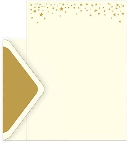 El arte archivo caja Notecards – diseño de estrellas – Juego de 10 ...