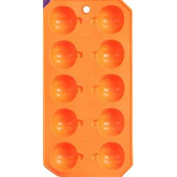 Pack of 2 Spooky Halloween Rubber Ice Cube Tray (Orange Pumpkins)