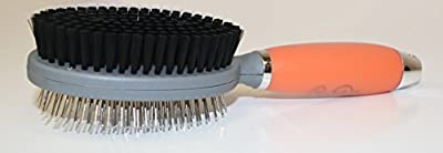 [✮CYBER WEEK SALE✮] Best Pin & Bristle Brush on Amazon for Dogs & Cats by GoPets   2-Sided Professional Grooming Comb for Short Medium Long Hair   Clean Pets w/ Shedding & Dirt   Lifetime Guarantee