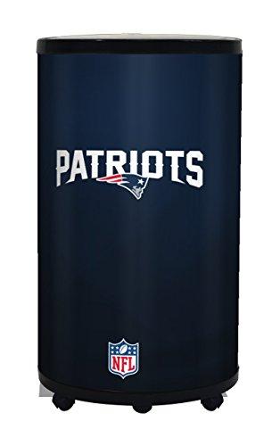 NFL New England Patriots Ice Barrel Cooler, Black, 19'' by GLAROS