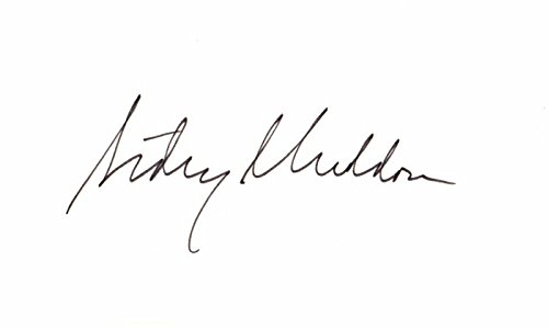 Sidney Sheldon Signed - Autographed 3x5 inch Index Card - Best Selling Fiction Author - Deceased - Autographed Signed Card 3x5 Index