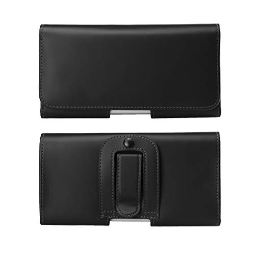 PU Leather Cell Phone Holster Case with Belt Clip Belt Loop Carrier Pouch for iPhone 11 Pro/XS/X/Galaxy S10e S9 S8…