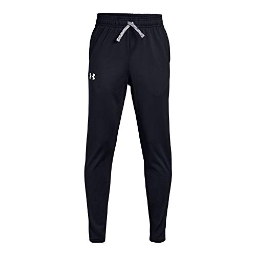 Under Armour Brawler Tapered Pants, Black/White, Youth Medium
