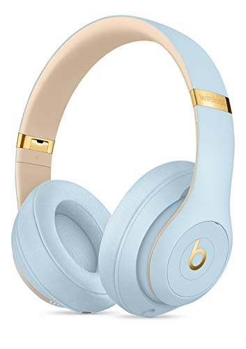 Beats S.t.u.d.io_3 Wireless Headphones Skyline Collection with Carrying Case,3.5mm RemoteTalk Cable and Universal USB Charging Cable (Crystal Blue)