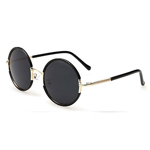 LOMOL Girls Fashion Trendy Metal Frame Reflective Lens UV Protection Cute Round - 8 Oakley Why Lenses
