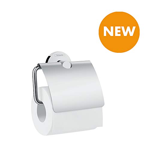 hansgrohe (HB7HL) 41723000 hansgrohe Logis Universal Paper Roll Holder with Lid Chrome Fittings Silver