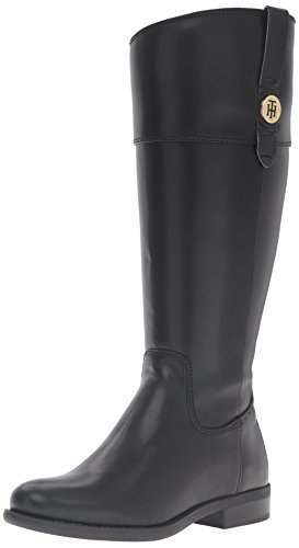 Tommy Hilfiger Women's Shano-wc Riding Boot, Black, 8 M US